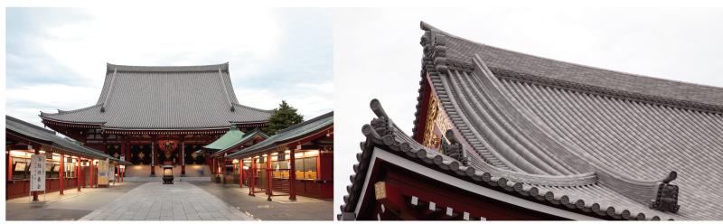 浅草寺のチタン瓦