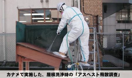 屋根の洗浄でアスベスト飛散