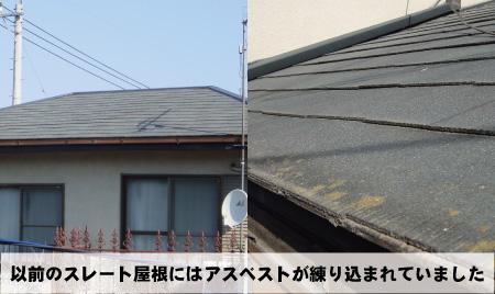 屋根のアスベスト