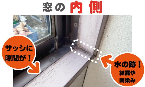 窓の内側チェック